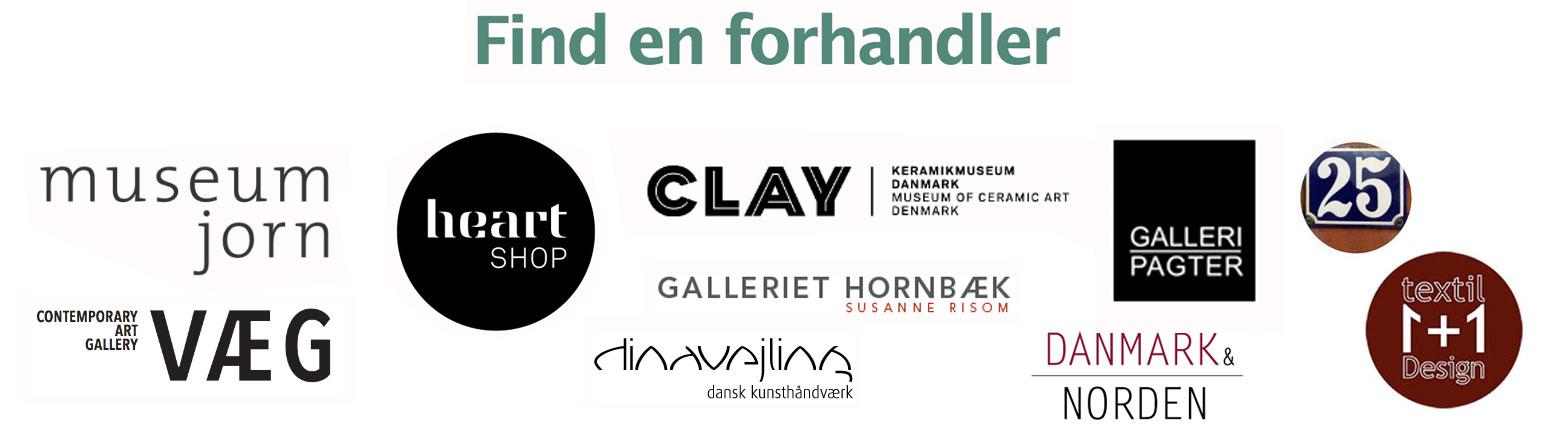 Forhandlere af Rikke Elgaard Keramik - klik for kontaktinfo